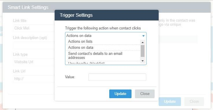 Trigger settings