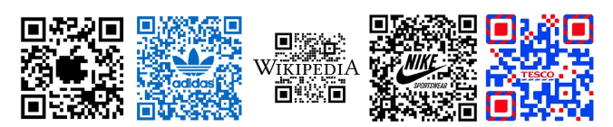 name and logo in QR code
